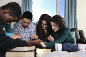 Diverse Students Praying